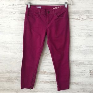 GAP Cropped Legging Skinny Jeans in Magenta 2P